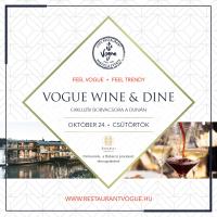 Wine & Dine – Borvacsora a Vogue Hajón 2019. október 24-én 19 órától!