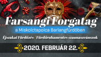 Farsangi éjszakai fürdőzés & szaunaprogramok a Miskolctapolca Barlangfürdőben!