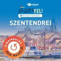 A pünkösdi hétvégén újraindul a MAHART PassNave szentendrei kirándulóhajó járata és a Duna Corso városnéző sétahajó!