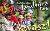 Hétvégenként újra látogatható a miskolctapolcai Kalandtúra Park!