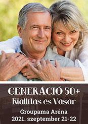 Generáció 50 + Kiállítás és Vásár a Groupama Arénában 2021. szeptember 21-22-ig!