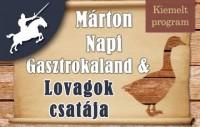 Márton Napi Gasztrokaland & Lovagok csatája a bikali Reneszánsz Élménybirtokon!